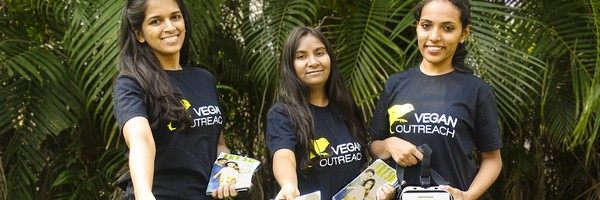 Volunteer in many ways with the organization Vegan Outreach!